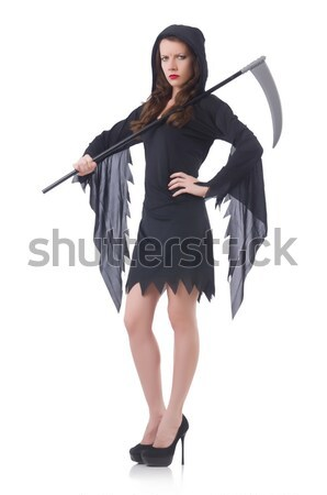 Lang model pels vrouw mode Stockfoto © Elnur