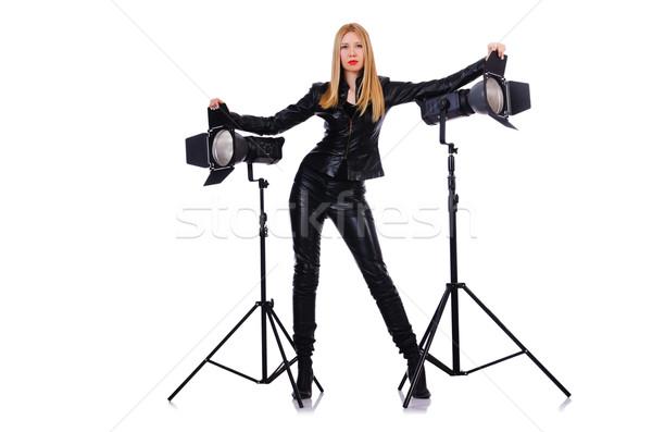 Kadın stüdyo kız yüz moda Stok fotoğraf © Elnur