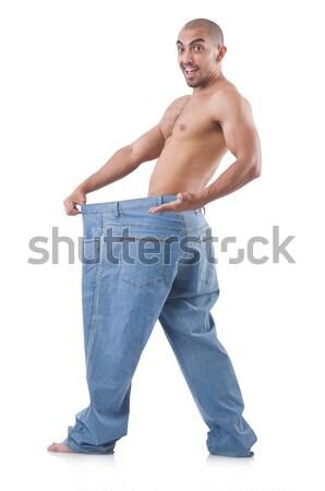 Muscular hombre bate de béisbol blanco desnuda madera Foto stock © Elnur
