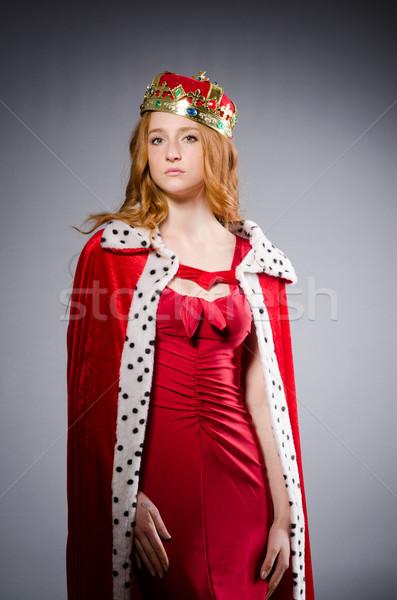 Królowej czerwona sukienka studio kobieta pracy biznesmen Zdjęcia stock © Elnur