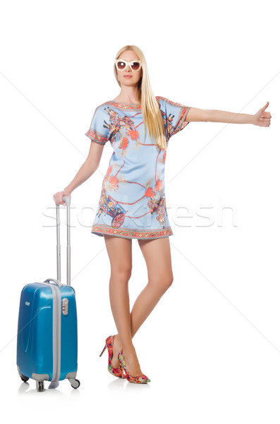 Travelling tourism concept isolated on white Stock photo © Elnur