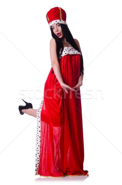 Regina vestito rosso isolato bianco ufficio lavoro Foto d'archivio © Elnur