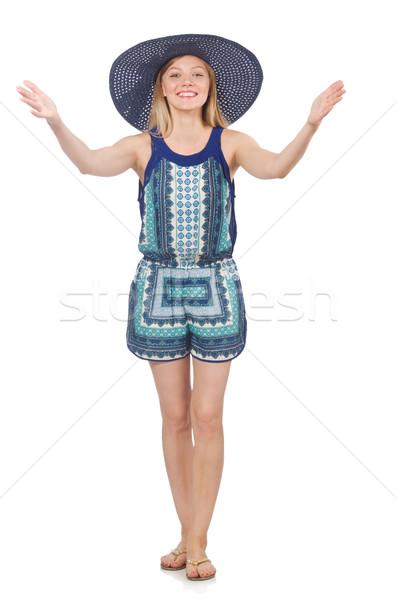 Nő divat ruházat kezek boldog nyár Stock fotó © Elnur