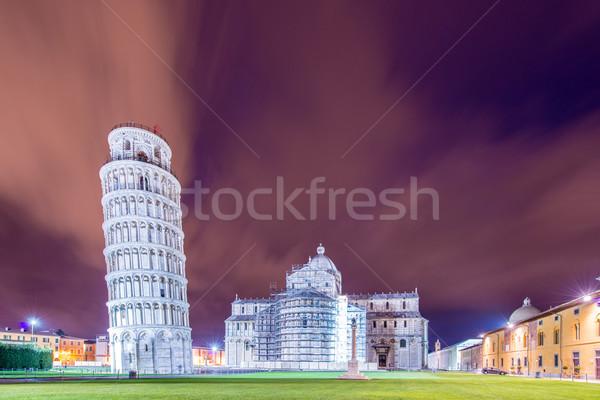 Сток-фото: известный · башни · вечер · небе · здании