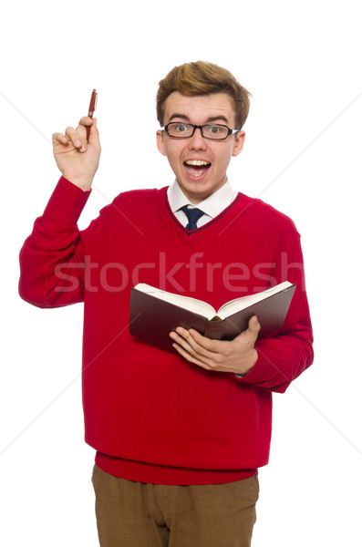 University student with book isolated on white Stock photo © Elnur