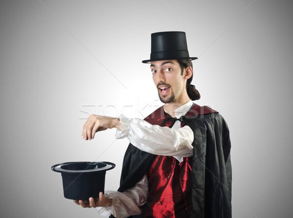 マジシャン 白 手 スーツ 黒 スタジオ ストックフォト © Elnur