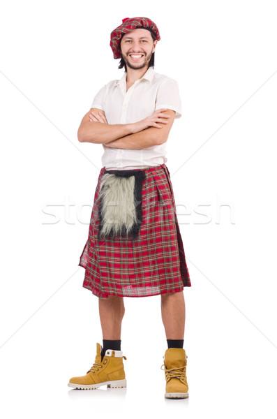 Happy Scotsman isolated on white Stock photo © Elnur
