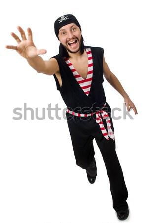 Człowiek pirackich odizolowany biały człowiek biały strony Zdjęcia stock © Elnur