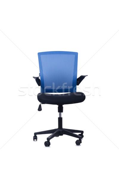 синий офисные кресла изолированный белый служба дизайна Сток-фото © Elnur