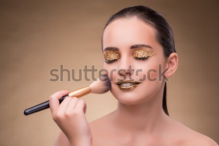 Elegant woman with jewellery in fashion concept Stock photo © Elnur