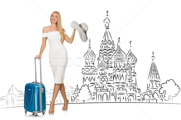 Młoda dziewczyna turystyki Rosja dziewczyna szczęśliwy moda Zdjęcia stock © Elnur