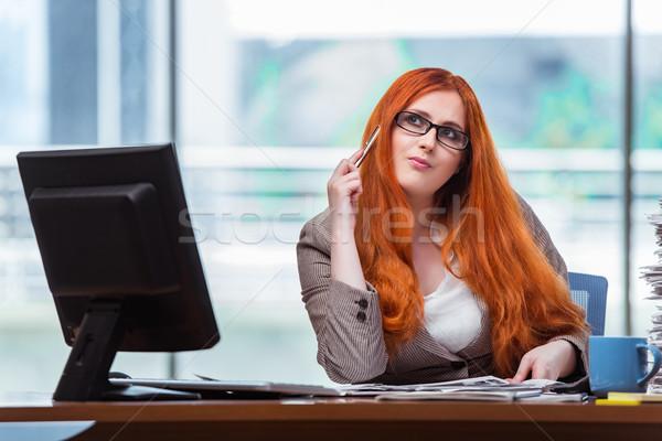 Foto stock: Empresária · sessão · secretária · escritório · negócio