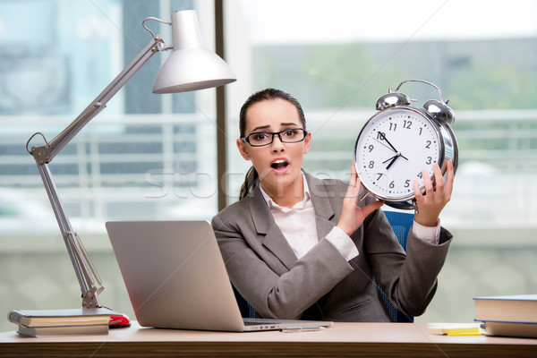 Businesswoman failing to meet challenging deadlines Stock photo © Elnur