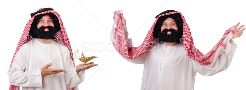 Bearded arab isolated on white background Stock photo © Elnur