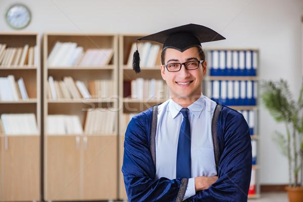 Young man graduating from university Stock photo © Elnur