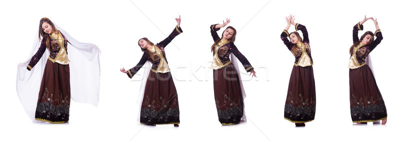 The young lady dancing traditional azeri dance Stock photo © Elnur