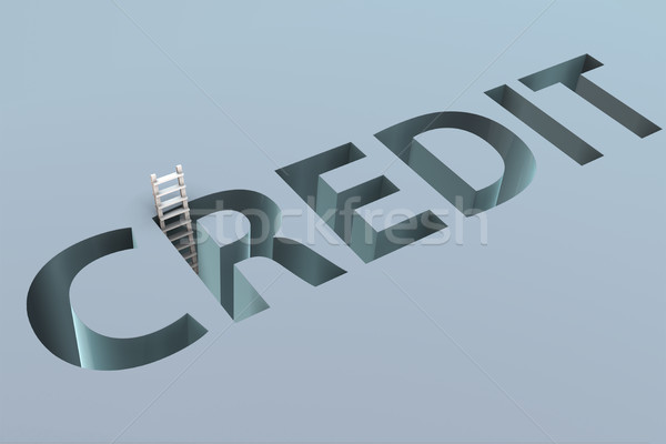Credit word in the concept of borrowing Stock photo © Elnur