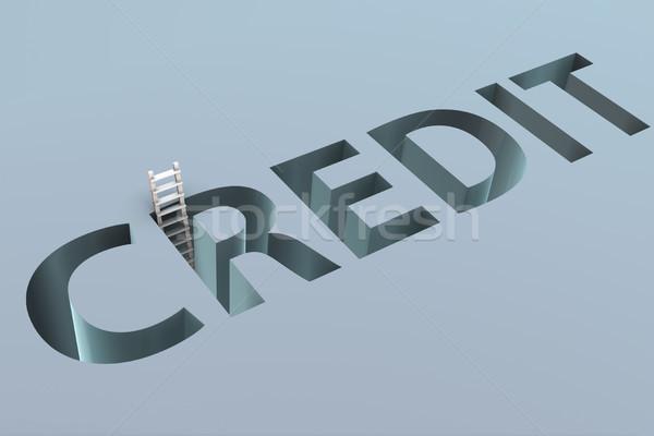 кредитных слово бизнеса печально Финансы Сток-фото © Elnur