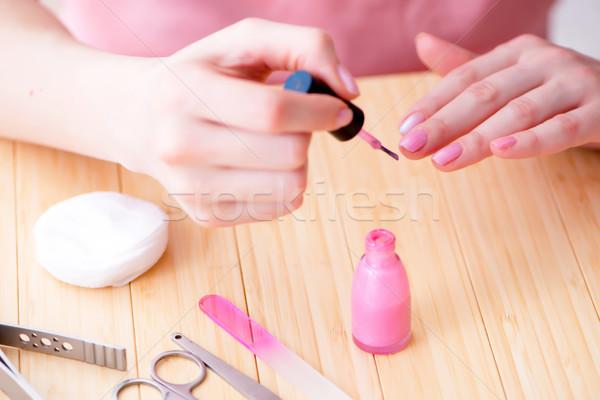 Kosmetyki paznokci opieki narzędzia pedicure Zdjęcia stock © Elnur