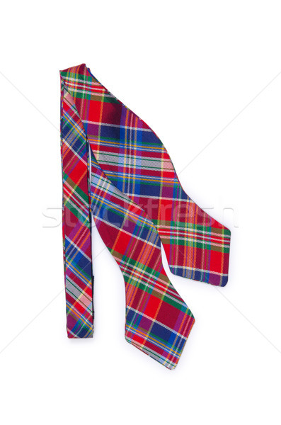 Checked male tie isolated on the white Stock photo © Elnur