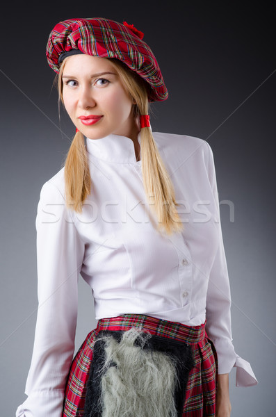 Scottish traditions concept with person wearing kilt Stock photo © Elnur
