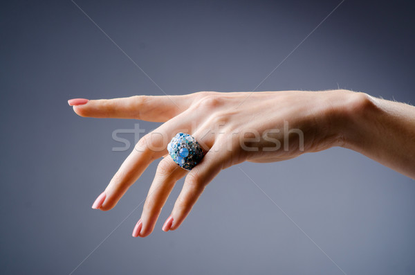 Engagement ring on the hand Stock photo © Elnur