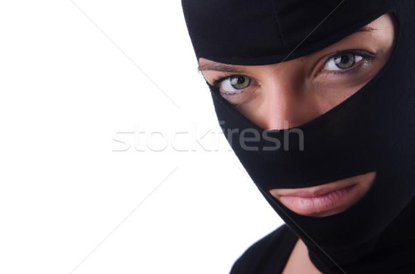 Jóvenes femenino ladrón aislado blanco mujer Foto stock © Elnur