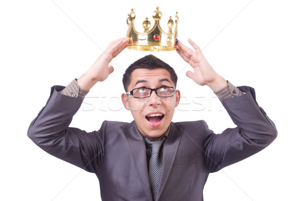 King businessman isolated on white Stock photo © Elnur