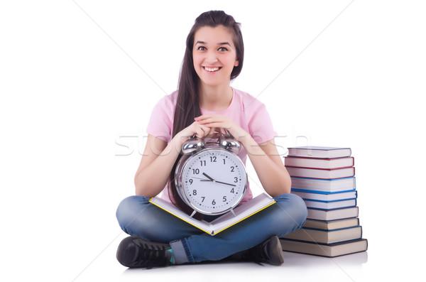 Student spełniają terminy książki książek szkoły Zdjęcia stock © Elnur