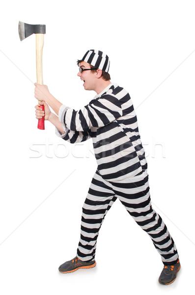 Funny prisión preso ley diversión policía Foto stock © Elnur