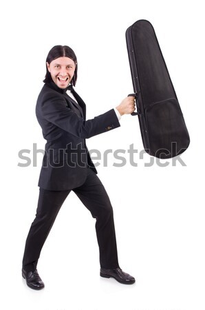 Stock photo: Nun with axe isolated on white