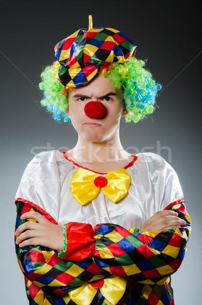 Funny Clown Humor Lächeln Spaß hat Stock foto © Elnur
