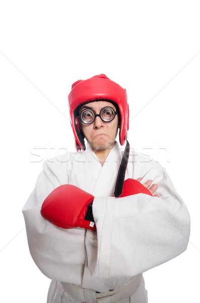 Stock photo: Man boxer isolated on white