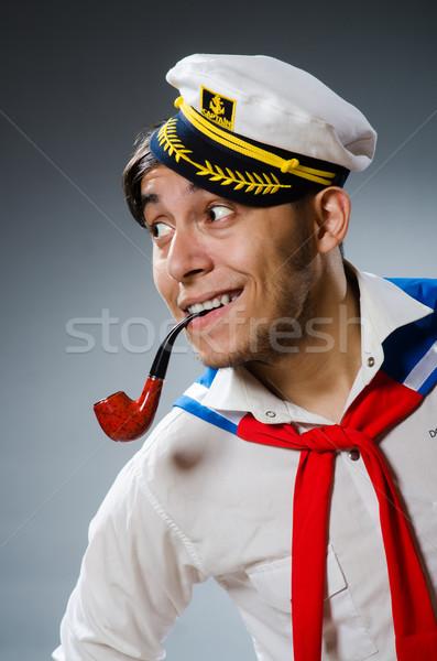 面白い 船乗り 着用 帽子 笑顔 男 ストックフォト © Elnur