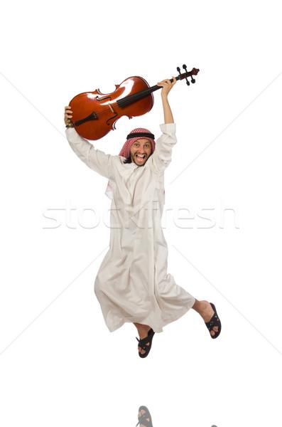 арабских человека играет музыкальный инструмент стороны искусства Сток-фото © Elnur