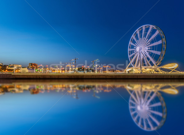 Ferris wheel at sea boulevard in Baku Azerbaijan Stock photo © Elnur