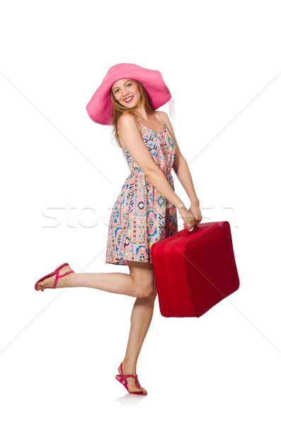 Vrouw witte meisje gelukkig mode Stockfoto © Elnur