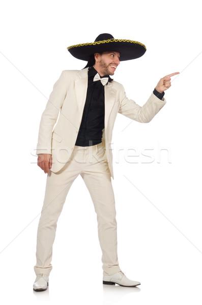 Engraçado mexicano terno sombrero isolado branco Foto stock © Elnur
