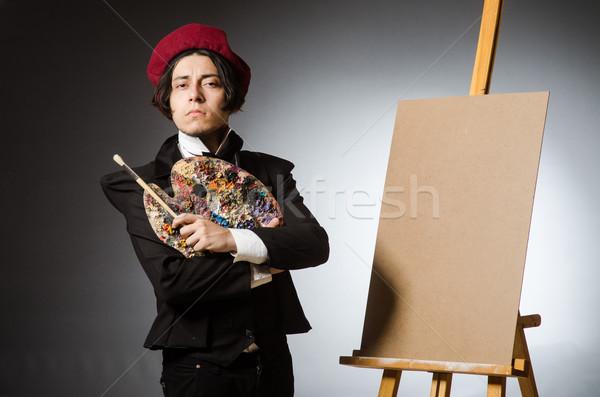 смешные художник темно студию работу кадр Сток-фото © Elnur