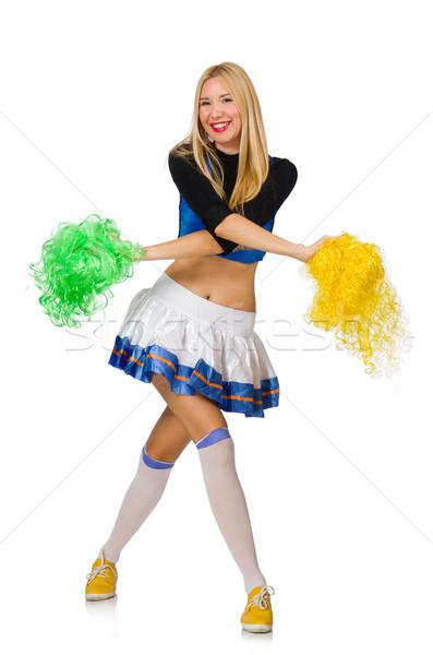 Mulher chefe de torcida isolado branco sensual dançar Foto stock © Elnur