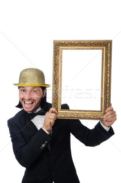 Homme cadre photo isolé homme blanc blanche fond Photo stock © Elnur