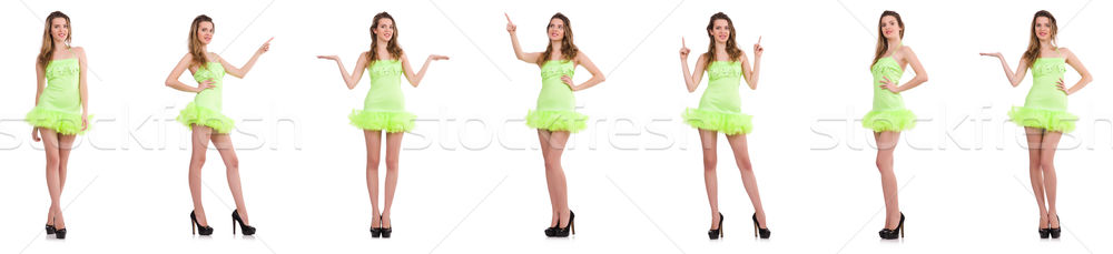The pretty lady in light charming dress isolated on white Stock photo © Elnur
