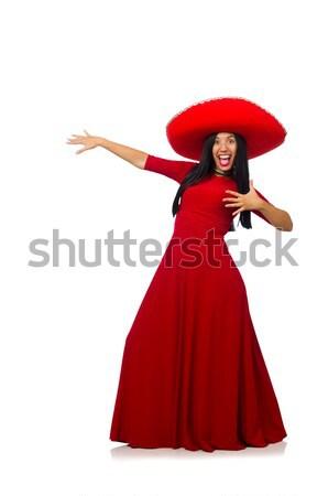 Kobieta taniec tradycyjny hiszpanski dance odizolowany Zdjęcia stock © Elnur
