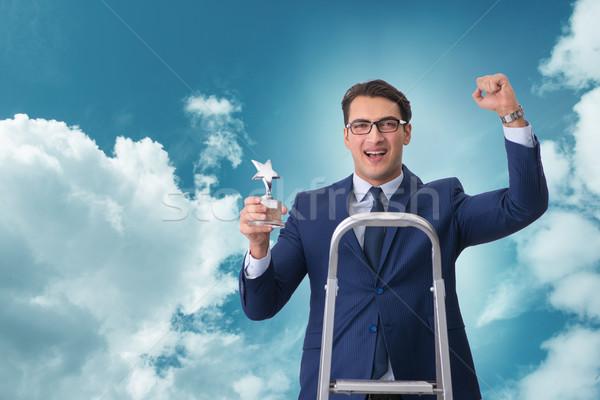 üzletember csillag díj égbolt férfi város Stock fotó © Elnur