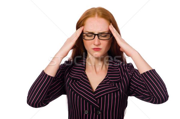 jeune femme maux de t te visage stress t te photo stock elnur amikishiyev. Black Bedroom Furniture Sets. Home Design Ideas
