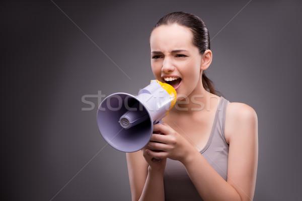 Femme sport haut-parleur corps santé gymnase Photo stock © Elnur