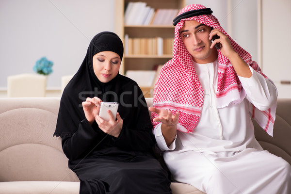 Pair of arab man and woman Stock photo © Elnur
