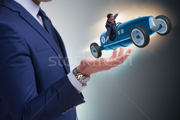 The man launching race car in start concept Stock photo © Elnur