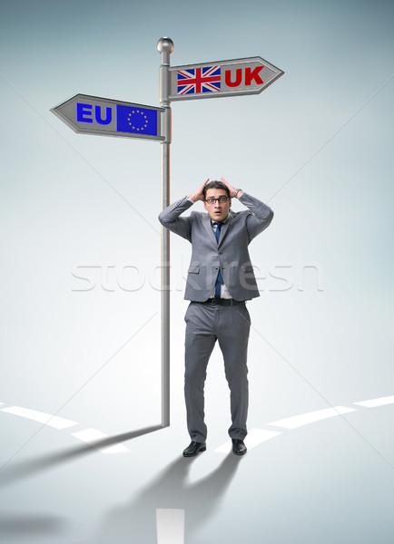 ビジネスマン eu にログイン フラグ ワーカー ユーロ ストックフォト © Elnur