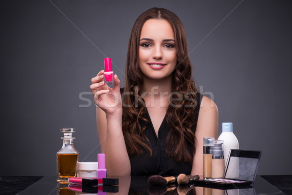 The beautiful woman applying make-up in fashion concept  Stock photo © Elnur